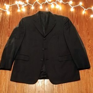 Kenneth Cole Deep Navy Pinstripe Suit Jacket